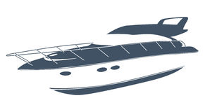 Logo łódź royalty ilustracja
