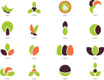 Logo_1. Vector illustration -set of logos- nature Stock Image