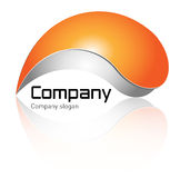 Logo. Orange and grey with soft shadow - modern  perfect for your business Royalty Free Stock Photos