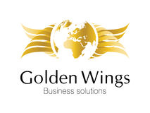 Logo. Golden Business logo for smart business corporations Stock Image