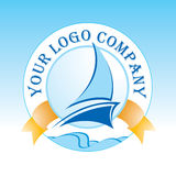 Logo. Modern colorful yacht  logo Stock Photography