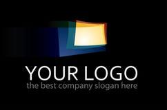 Logo. Business colorful logo on black background Stock Photo