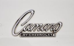 Logo of 1967 Chevrolet Camaro antique car Stock Image