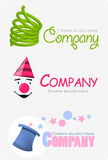 Logo. Representing company taking action with preparing ceremony for kids etc Royalty Free Stock Photos
