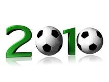 logo 2010 du football photographie stock