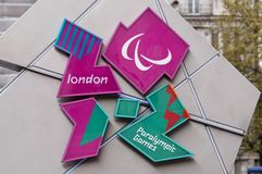 Logo 2012 de jeux de Londres Paralympic Photo stock