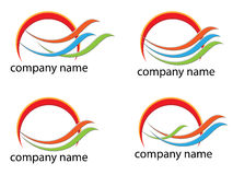 Logo. Art design white background Stock Photos
