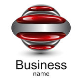 Logo. Business, red glossy ellipses Royalty Free Stock Images