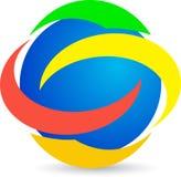 Logo. Illustration of logo design isolated on white background Stock Photos