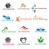 Logo 2d icon set Royalty Free Stock Photos