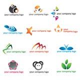 Logo 2d icon set. Vector 2d logo icon set design Royalty Free Stock Photos