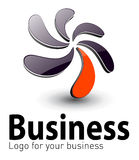 Logo 3D royalty free illustration
