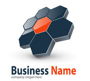 Logo 3d hexagons. Perfect for your business Royalty Free Stock Image