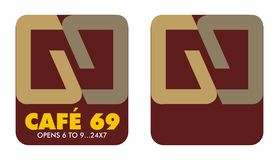 Logo 6 to 9 Cafe Stock Images