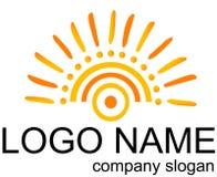 Logo. Icon company slogan yellow sun sunser