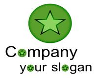 Logo. Illustration of a logo for companies Stock Images