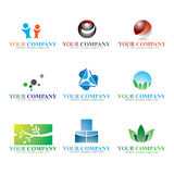 Logo. Colorful logos and icon set Royalty Free Stock Photography