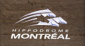 Logo abbandonato della pista del cavallo Fotografia Stock Libera da Diritti