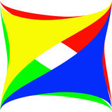 Logo abstract. Abstract colorful triangles logo on a white background stock illustration