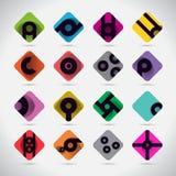 Logo Abstract Collection Simbolo Illustrazione di vettore Su bianco royalty illustrazione gratis