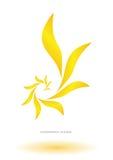 Logo abstract flower. Gold company Royalty Free Stock Photos