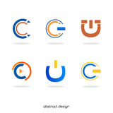 Logo abstract initial C Royalty Free Stock Photo