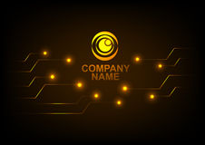 Logo with Abstract technology background Royalty Free Stock Photography