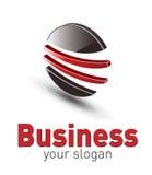 Logo, abstrait 3d lustré Images libres de droits