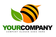 Logo abstrait d'abeille illustration stock