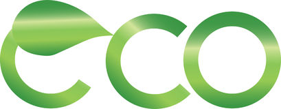 Logo abstrait d'eco Photos libres de droits