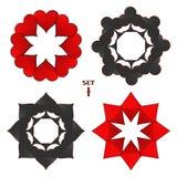 Logo abstrait d'illustration de vecteur pour l'ensemble jouant des cartes dans le tisonnier de jeu Image libre de droits