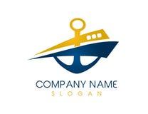Logo abstrait de bateau illustration de vecteur