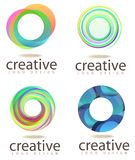 Logo abstrait de cercle Photos stock