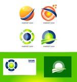 Logo abstrait de cercle de sphère illustration stock