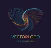 Logo abstrait de papillon Symbole de vecteur illustration libre de droits