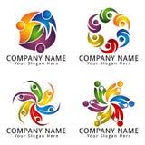 Logo abstrait de personnes pour le concept moderne d'environnement Photographie stock