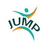 Logo abstrait de saut Photo stock