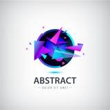 Logo abstrait de sphère de vecteur avec des formes géométriques illustration libre de droits