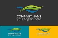 Logo abstrait de vague photo stock