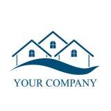 Logo abstrait de vecteur de silhouette de bâtiment d'architecture Image libre de droits