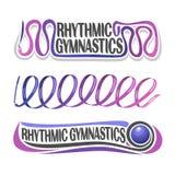 Logo abstrait de vecteur pour la gymnastique rythmique Photographie stock libre de droits