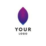 Logo abstrait du feu logotype Vecteur illustration stock