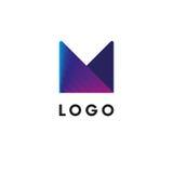Logo abstrait Logotype pourpre Illustration de vecteur illustration stock