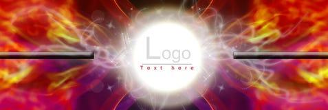 Logo abstrait polychrome de fond de galaxie de fumée Photographie stock