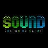 Logo abstrait pour la radio, le magasin de musique ou le studio d'enregistrement Photo stock
