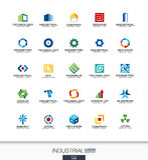 Logo abstrait réglé pour la société commerciale Construction, industrie, architectureconcepts Le travail, ingénieur, technologie