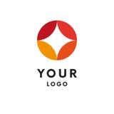 Logo abstrait Tenez le premier rôle la forme logotype Vecteur illustration libre de droits