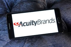 Acuity Brands logo. Logo of Acuity Brands on samsung mobile. Acuity Brands is an electronics manufacturing company Royalty Free Stock Photos