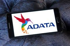ADATA Technology company logo. Logo of ADATA Technology company on samsung mobile. ADATA is a Taiwanese memory and storage manufacturer Stock Photo