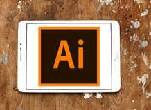 Adobe Illustrator logo. Logo of Adobe Illustrator on samsung tablet. Adobe Illustrator is a vector graphics editor developed and marketed by Adobe Systems Royalty Free Stock Image